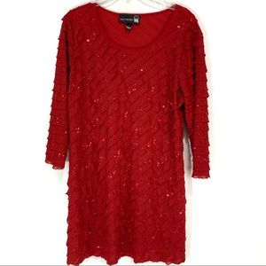 Antthony Originals red sequins long tunic